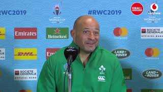 Ireland press conference after seeing off Samoa