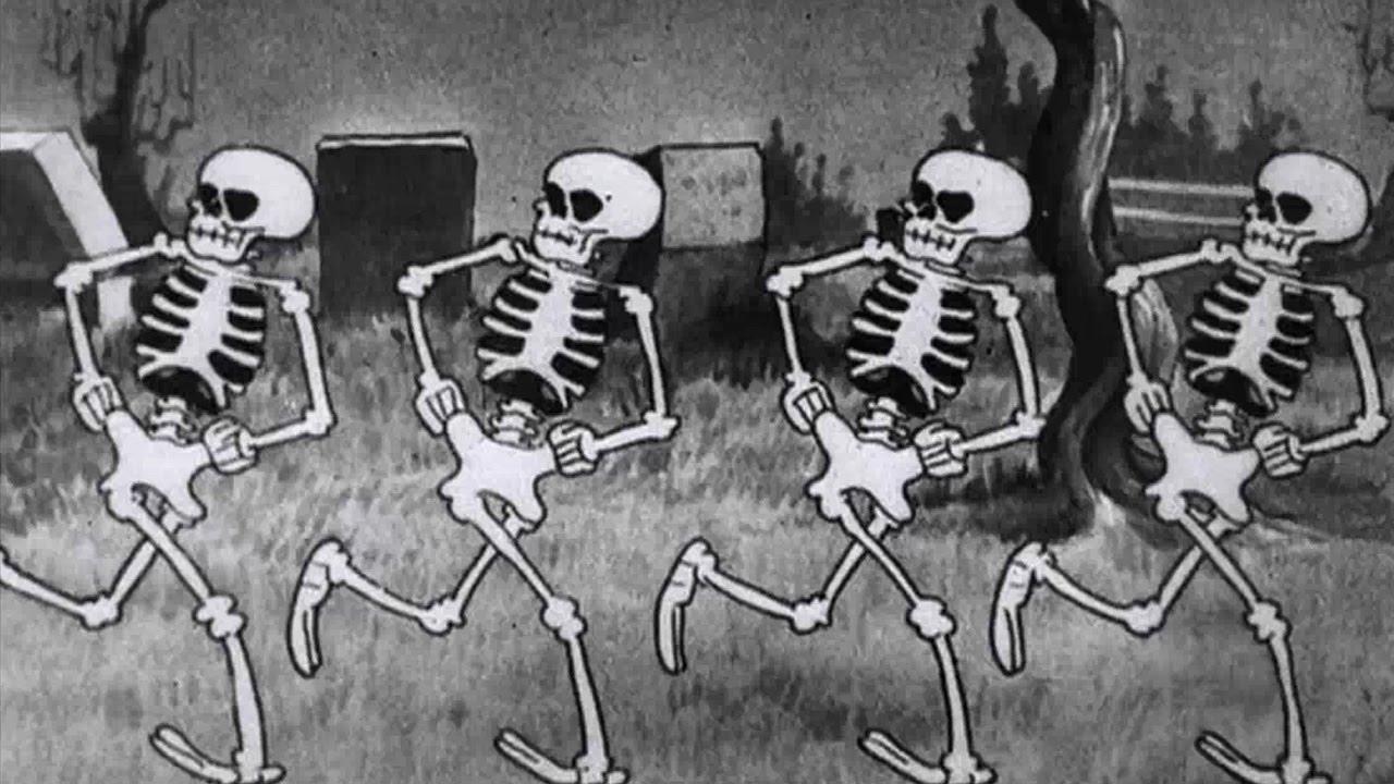 The Skeleton Dance Silly Symphony 1929 Youtube