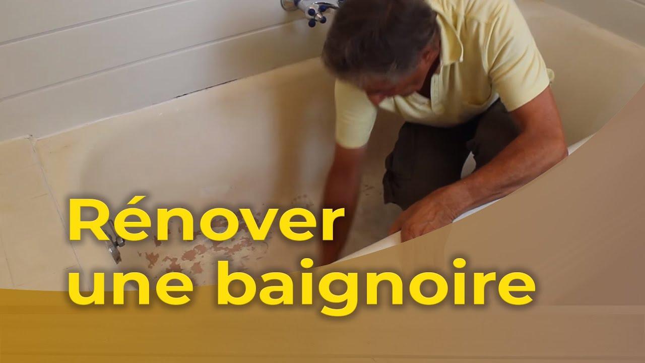 bricolage maison - rénover une baignoire - youtube - Repeindre Une Baignoire Avec Resinence