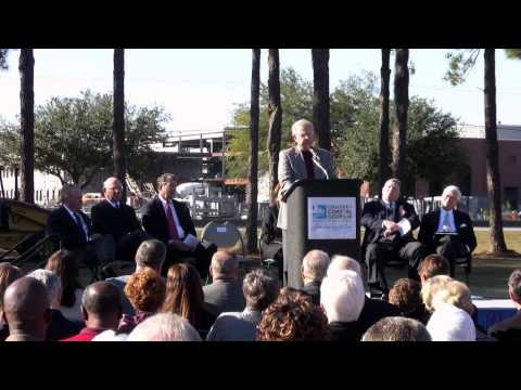 Founders Gate and Regent James A. Bishop Arch Groundbreaking