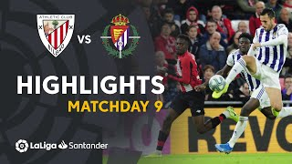 Highlights Athletic Club vs Real Valladolid (1-1)