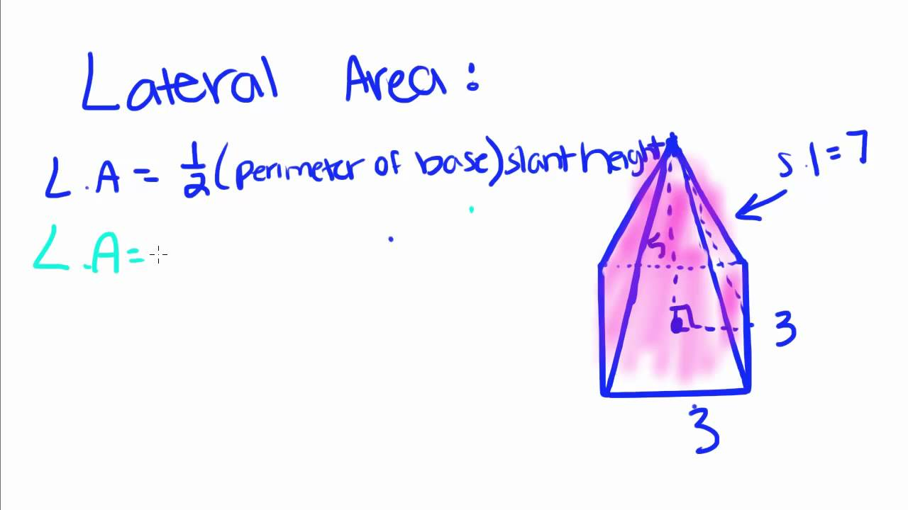 Geometry  19  Pyramids  Volume, Lateral Area, And Total Area