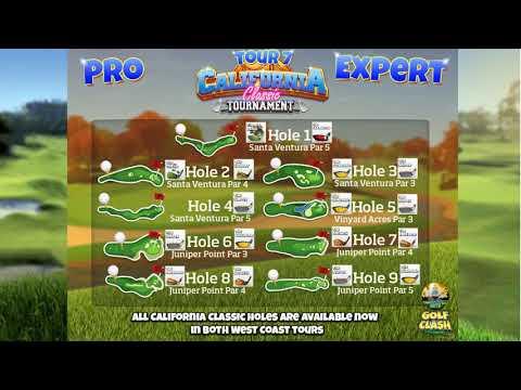 Golf Clash tips, Clubguide - California Classic, Pro/Expert Division