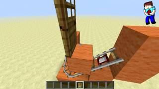 [Minecraft] Урок 79: Автоматическая дверь! Ver.2