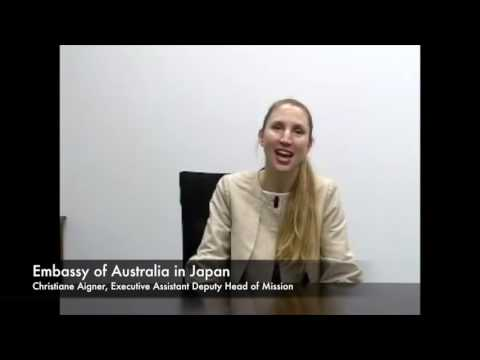 Embassy of Australia in Japan Executive  Assistant  Deputy Head of Mission Christiane Aigner