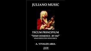 Tecum Principium  - A. Vivaldi (J.A.M - PIANO SHEET REDUCTION WITH LYRICS)