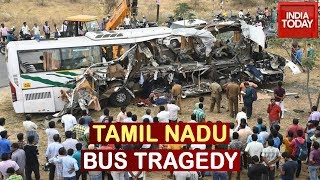 19 Dead In Tamil Nadu Road Accident As Kerala Transport Bus Collides With A Truck