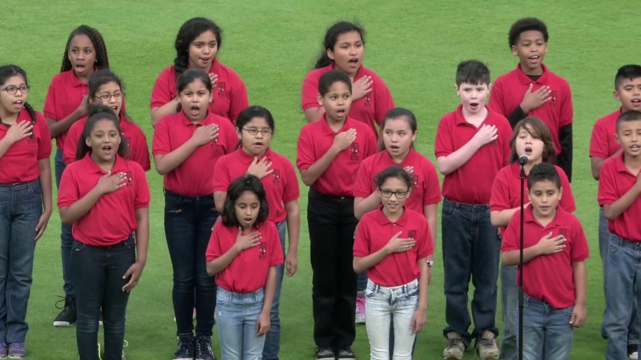 National Anthem 2017 05 05 Garden Hills Elementary Youtube