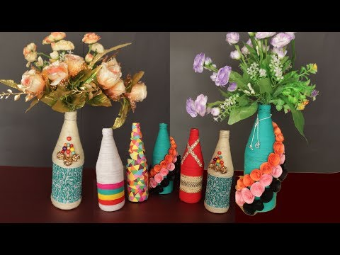 5 DIY - Simple And Easy Bottle Decoration Ideas || Bottle Craft