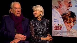 THE LEISURE SEEKER Interview: Helen Mirren and Donald Sutherland