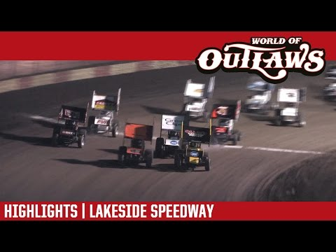 World of Outlaws Craftsman Sprint Cars Lakeside Speedway October 21st, 2016 | HIGHLIGHTS