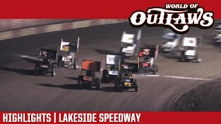 World of Outlaws Craftsman Sprint Car Series @ Lakeside Speedway 10/21/16