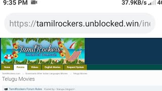Tamilrockers website link https://tamilrockers.unblocked.win/index.php/forum/122-telugu-movies/