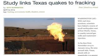 The Deans List: Earthquakes Linked to Fracking Waste