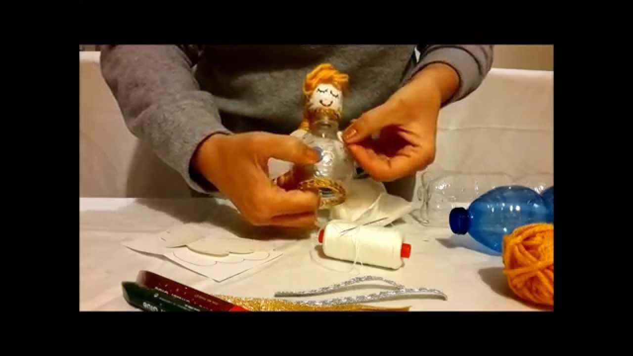 Tutorial angioletti natalizi fatti con materiale riciclato decorazioni natalizie youtube - Decorazioni di natale con materiale riciclato ...