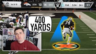 He averages 450 yards a game with Bo Jackson, so I called him out!