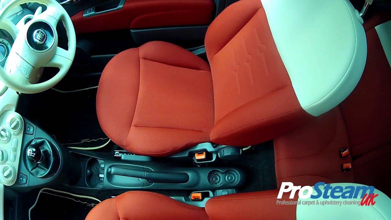 Windlesham Car Upholstery Cleaning Fiat 500 Youtube