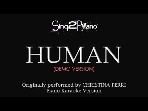 Human (Piano Karaoke Demo) Christina Perri