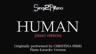 Gambar cover Human (Piano Karaoke Demo) Christina Perri