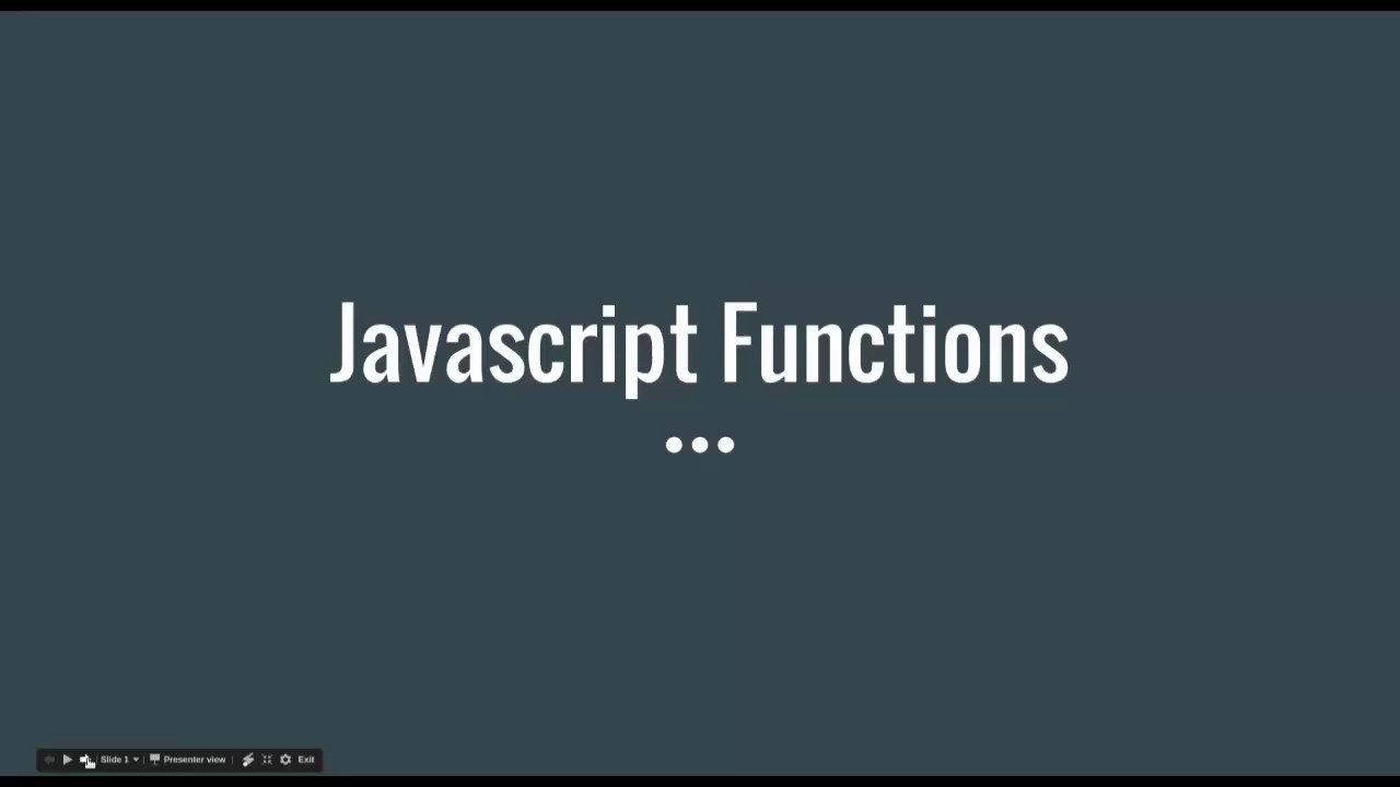 LET'S LEARN FUNCTIONS | Simple JS Project & Javascript Training Tutorial