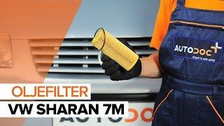 Montering Oljefilter VW SHARAN (7M8, 7M9, 7M6): gratis video