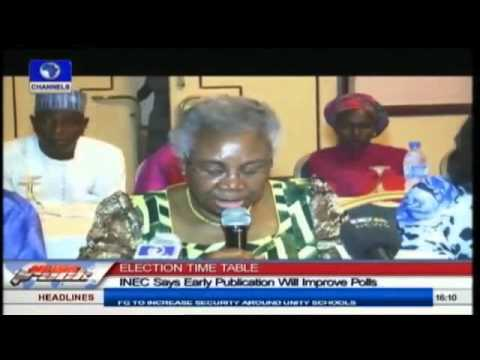 Early Publication Of Time Table Is Aimed At Improving 2015 Polls - INEC