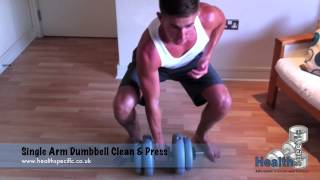 Single Arm Dumbbell Clean and Press