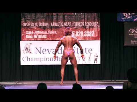 Kacee Woods Pose Women's Physique @ 2013 Nevada State