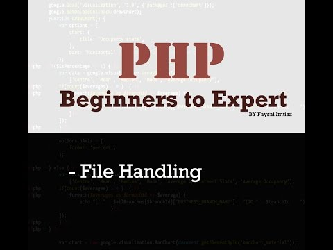 PHP File Handling with write, read and append