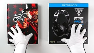 Professional PS4 Headset Unboxing + Red Dead Redemption 2 Collector's Edition Guide Book