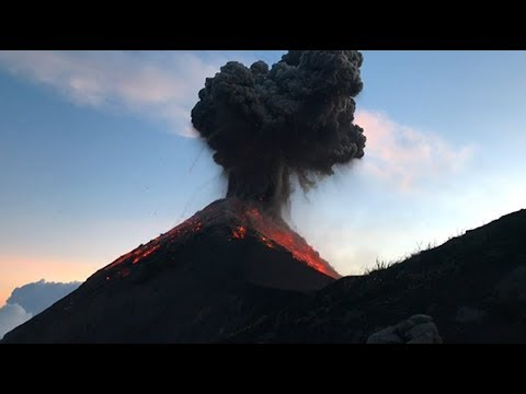 Astonishing video shows Guatemala volcano eruption up close
