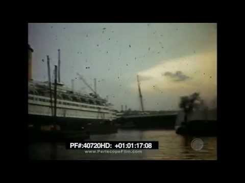 Ocean liners SS United States and RMS Queen Mary Home Movie 40720 HD