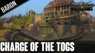 World of Tanks Dream Team - The Charge of the TOG II Brigade!  Funny Moments!
