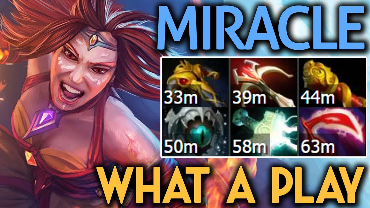 Miracle Dota  Lina What A Play