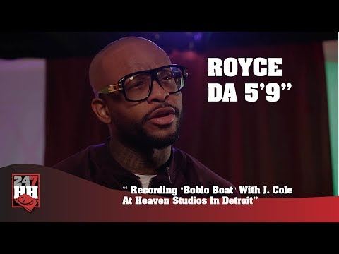 "Royce Da 5'9'' - Recording ""Boblo Boat"" With J. Cole At Heaven Studios In Detroit (247HH Exclusive)"