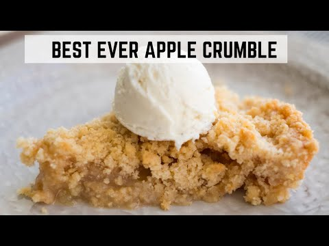 Best Ever Apple Crumble Recipe | Dessert | Well and Tasty