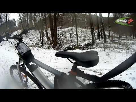 Matschige E-Bike Test Blog Schneetour bei null Grad in Ennepetal verrückte sache So.11.2.2018
