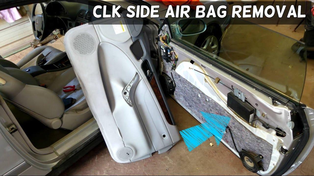 BMW Auto Repair >> MERCEDES CLK W208 SIDE DOOR AIR BAG AIRBAG REMOVAL ...