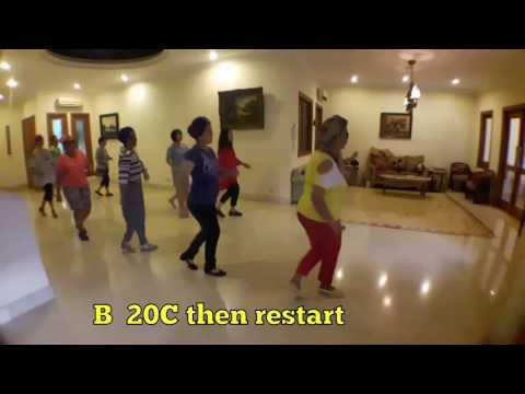 Baju Bola Bola - line dance by Bambang Satiyawan (INA) June 2017