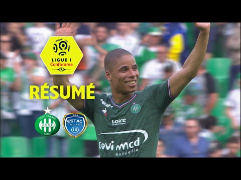 AS Saint-Etienne - ESTAC Troyes ( 2-1 ) - Résumé - (ASSE - ESTAC) / 2017-18