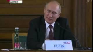 Der russische Präsident Wladimir Putin in Wien ll Humor auf Deutsch
