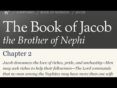 Read the Book of Mormon Jacob 2 - The Effects Of Pride and Sin  on Ourselves and on Others