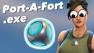 Port-A-Fort.exe (I TRAPPED a guy inside a Port A Fort) - Fortnite Gameplay