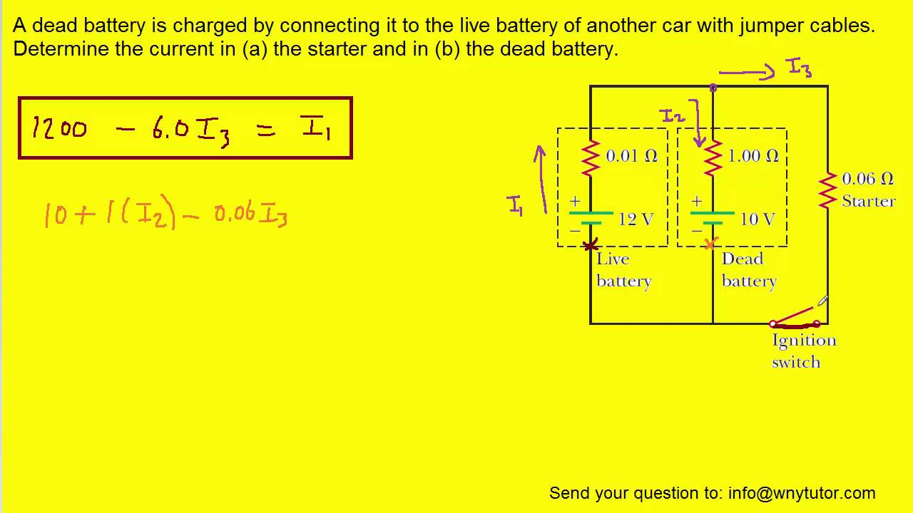 medium resolution of a dead battery is charged by connecting it to the live battery of another car with jumper cables de
