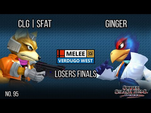 Melee @ Verdugo #95 - CLG | SFAT (Fox) VS Ginger (Falco) - SSBM - Losers Finals
