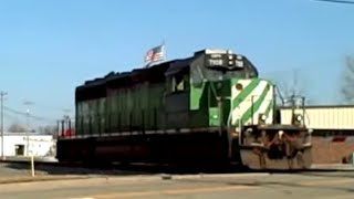 Chasing Ex-BN CEFX SD40-2 Nice RS3L Through Maumee & Toledo, Ohio