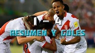 Paraguay vs. Perú (1-4) - Eliminatorias Rusia 2018 Fecha 11 | Resumen y Goles en HD 10/11/2016