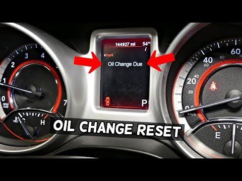 DODGE JOURNEY OIL LIGHT RESET. HOW TO RESET OIL LIFE. OIL Change Due Reset