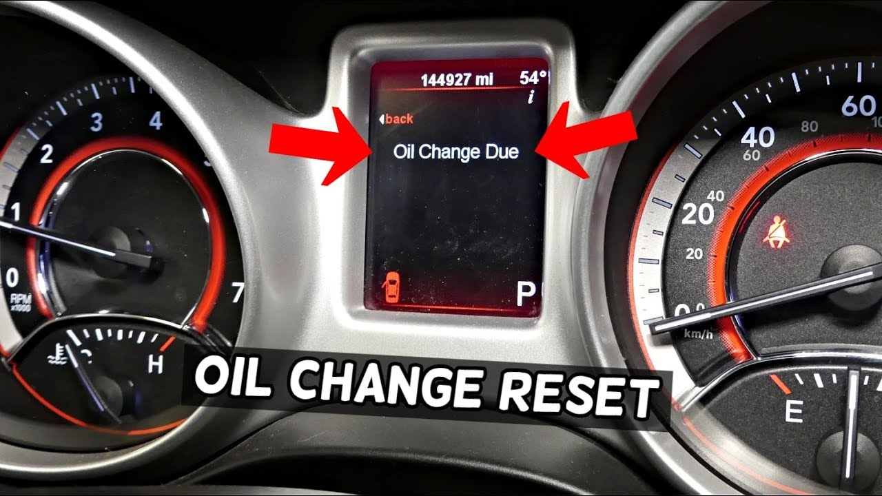 DODGE JOURNEY OIL LIGHT RESET  HOW TO RESET OIL LIFE  OIL Change Due Reset