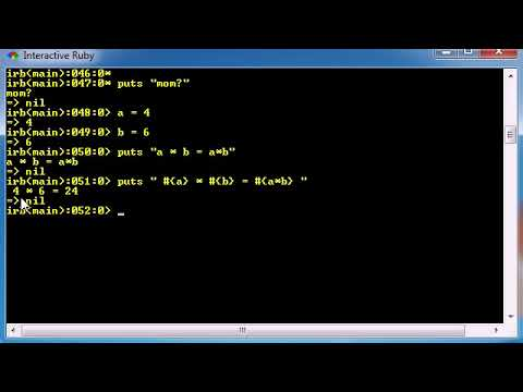 Ruby Programming Tutorial 22 Interpolation thumbnail